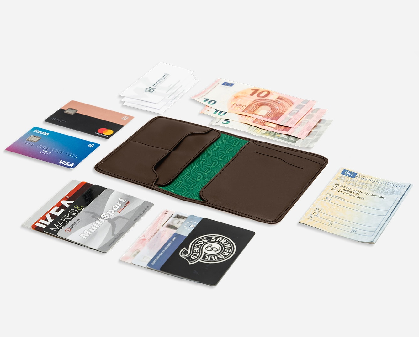 59096191e6f75 Daily Wallet - Skórzany portfel do marynarki | manumi.pl
