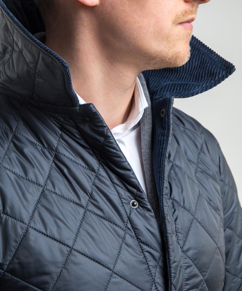 e91a73506f0a9 Granatowa kurtka pikowana | ShopMILER.com